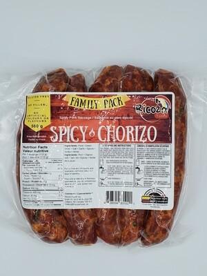 RICOZA FOODS SPICY COLOMBIAN CHORIZO 560G 5PK