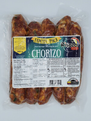 RICOZA FOODS COLOMBIAN CHORIZO 560G 5PK