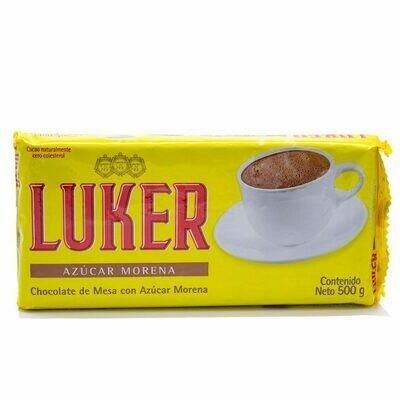 LUKER CHOCOLATE CON AZUCAR MORENA 500G