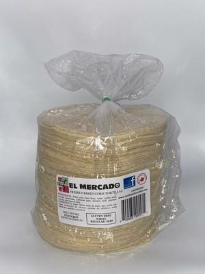 EL MERCADO WHITE CORN TORTILLA 4LB