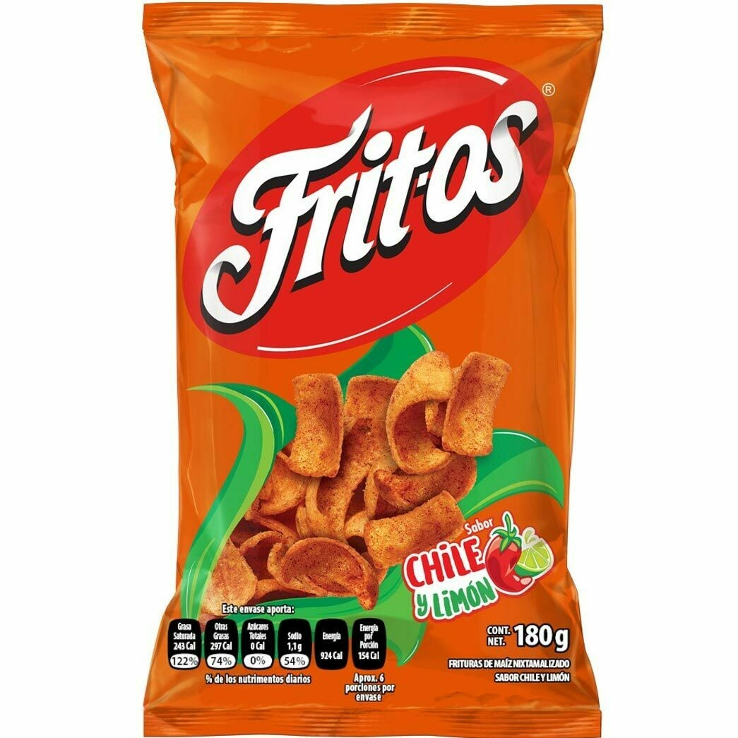 FRITOS CHIPS CHILE Y LIMON 170G