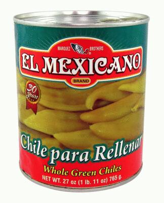 EL MEXICANO WHOLE GREEN CHILE 765G