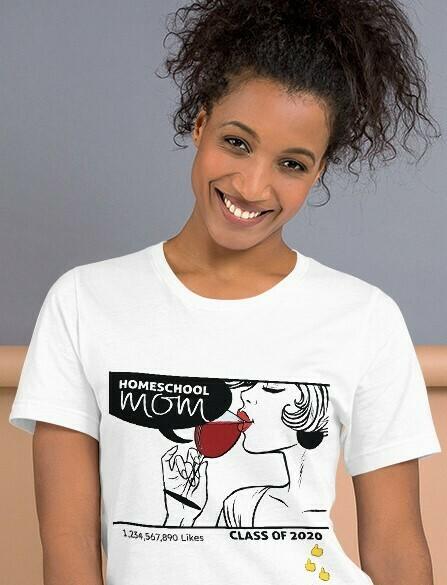 Homeschool MOM Fashionista T-Shirt Emojis & Likes