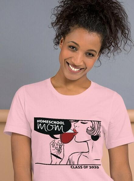 Homeschool MOM Fashionista Pink T-Shirt