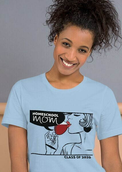 Homeschool MOM Fashionista Light Blue T-Shirt