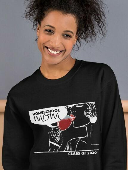 Homeschool MOM Fashionista Black Sweatshirt