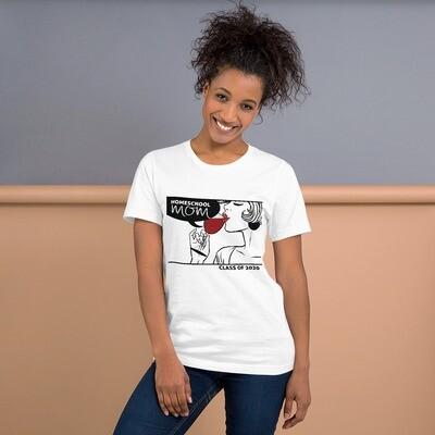 Homeschool MOM Fashionista White T-Shirt