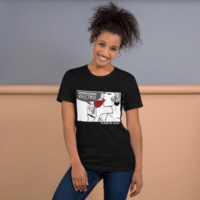 Homeschool MOM Fashionista Black T-Shirt