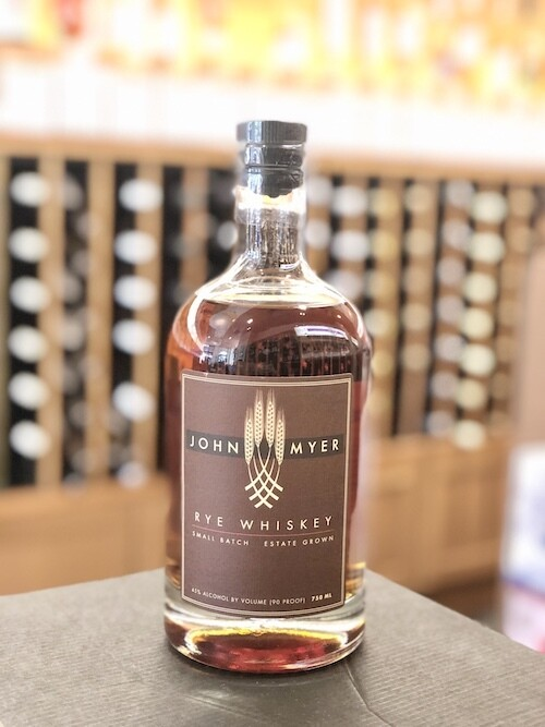 John Myer Rye Whiskey ORGANIC/SUSTAINABLE