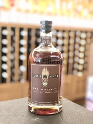 John Myer Rye Whiskey ORGANIC/SUSTAINABLE