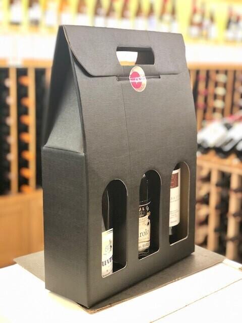 Black 3-Bottle Gift Box