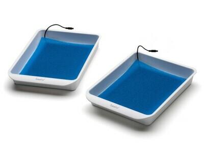 サーリオのトレイ、電極板、青マットのセット(手足用・各2枚)