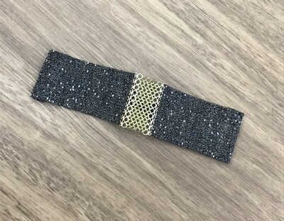 Sterling silver, silk thread, gold, and ruthenium bracelet, Marie Laure Chamorel
