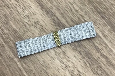 Sterling silver, gold, and silk thread bracelet, Marie Laure Chamorel