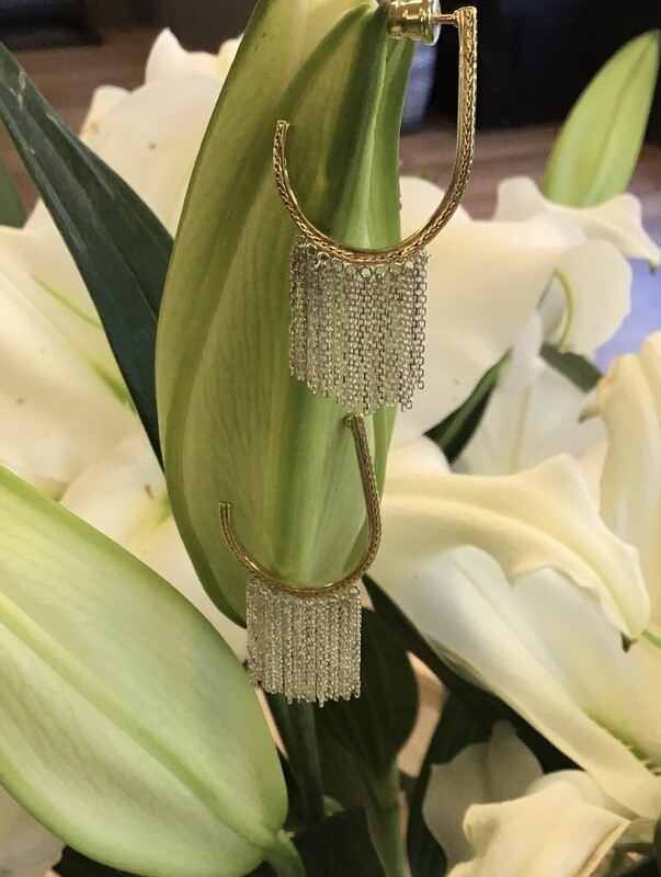Sterling silver and gold earring, Marie Laure Chamorel