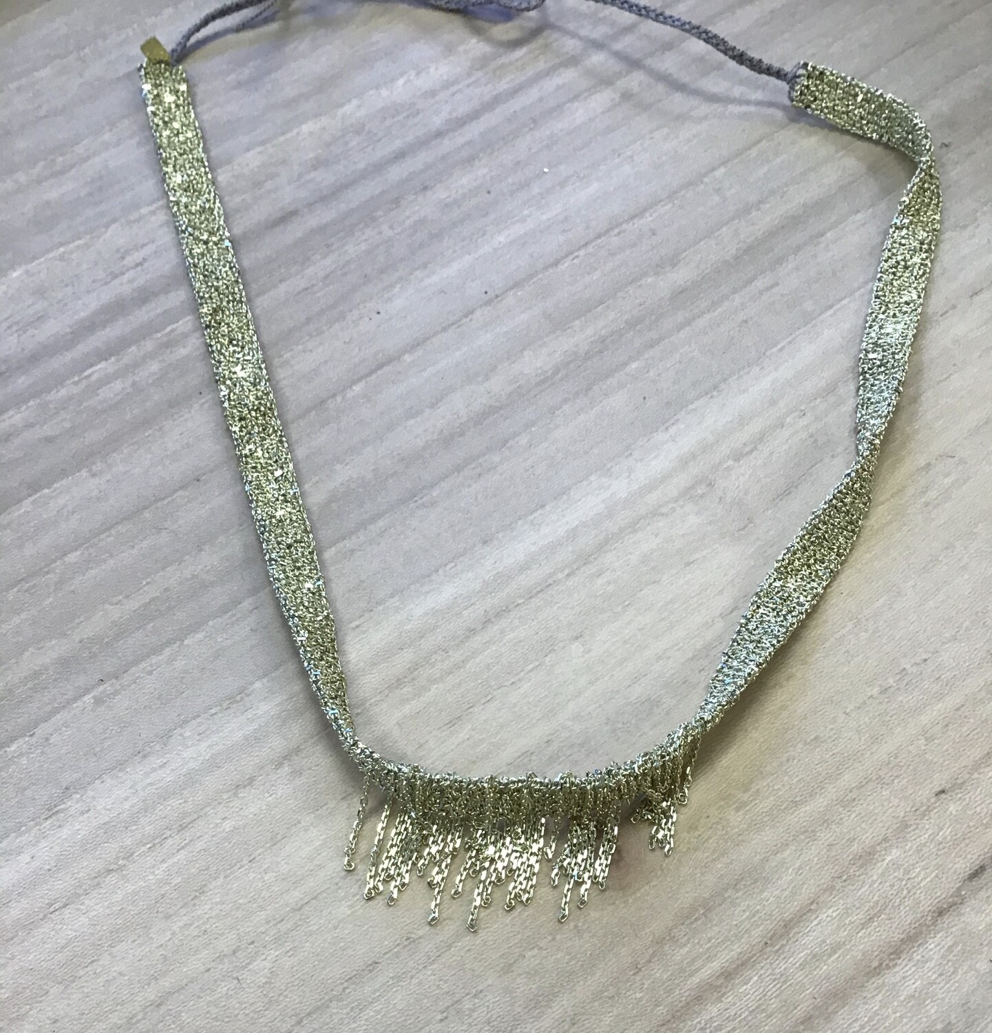 Sterling silver and gold fringe necklace, Marie Laure Chamorel