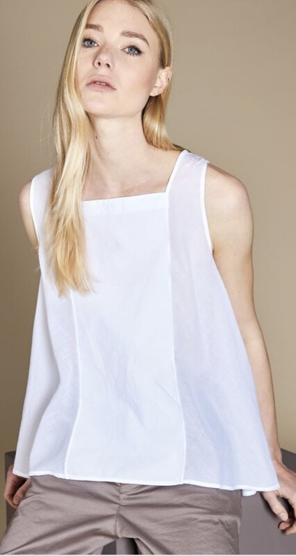 White Button Tank