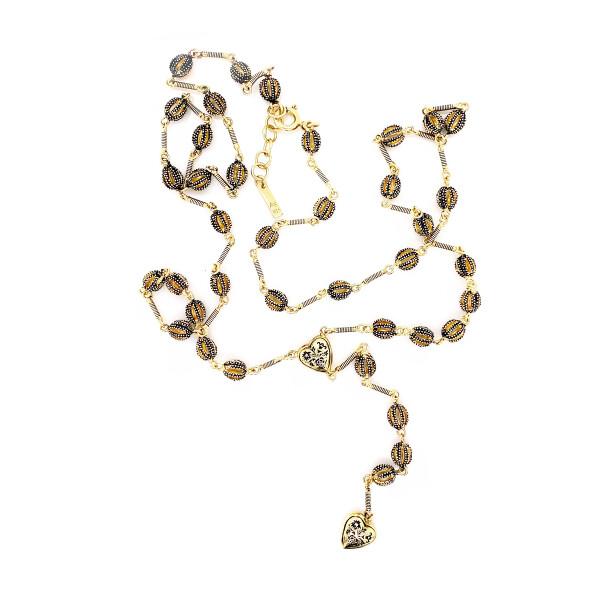 Antique Gold Grelot Necklace, Marie Laure Chamorel