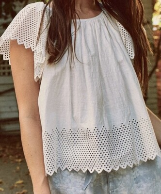 Eyelet Dale Top, THE GREAT