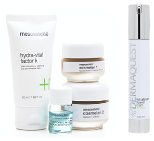 Skinceuticals, Dermaquest and Mesoestetic - please email us on info@lifemedaesthetics.co.za for product information and orders