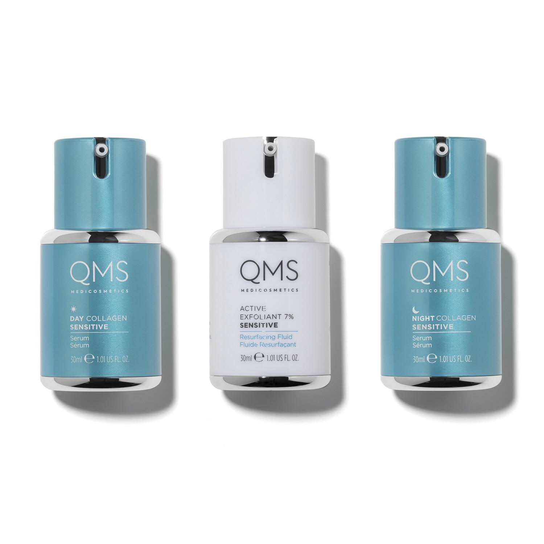 QMS COLLAGEN SYSTEM SENSITIVE 3-Step Routine Set 3 x 30ml