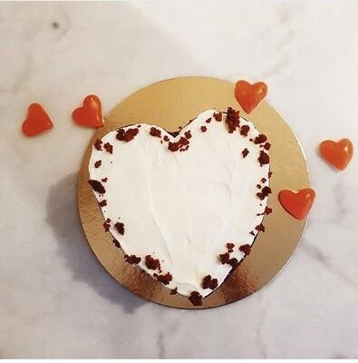 Pastel corazón de Red Velvet
