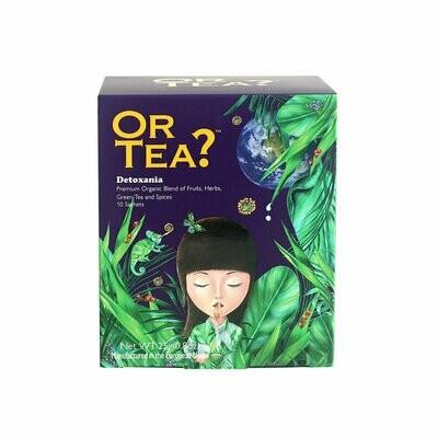 Detoxania - Té verde con infusión de hierbas y frutas, caja de 10 bolsitas de 25g