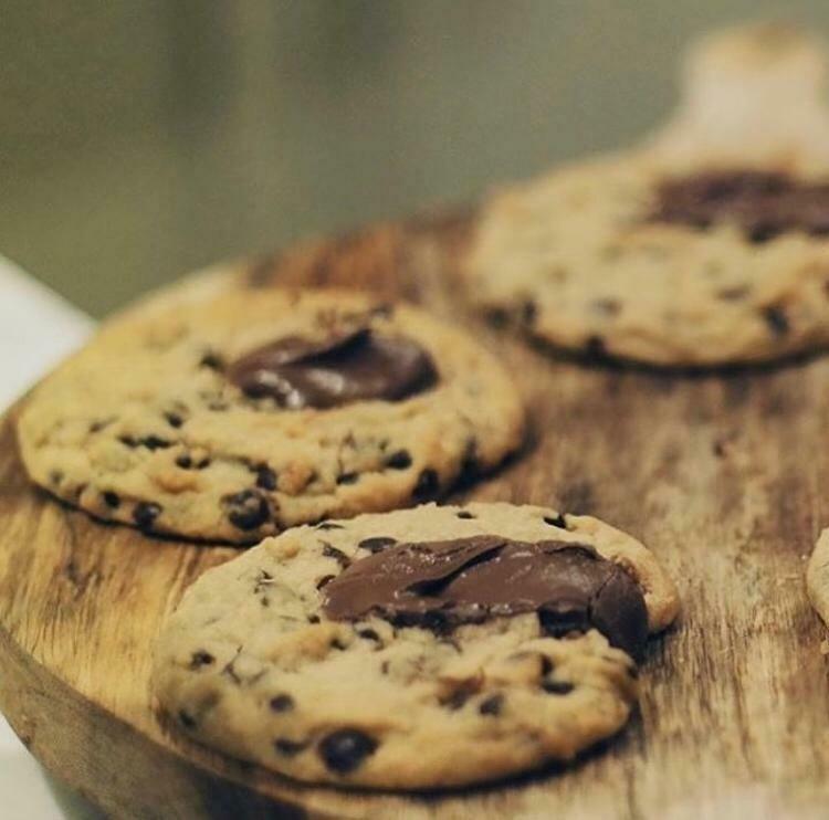 Pack de 4 cookies de chocolate y nutella