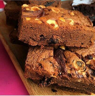 Plum Hazelnut Brownie