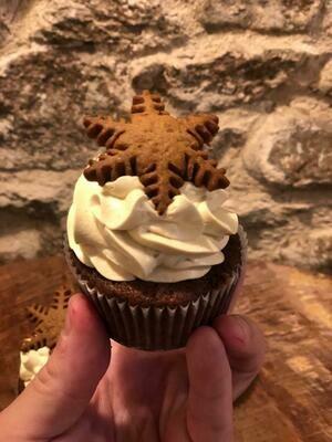 Cupcake de turrón y chocolate