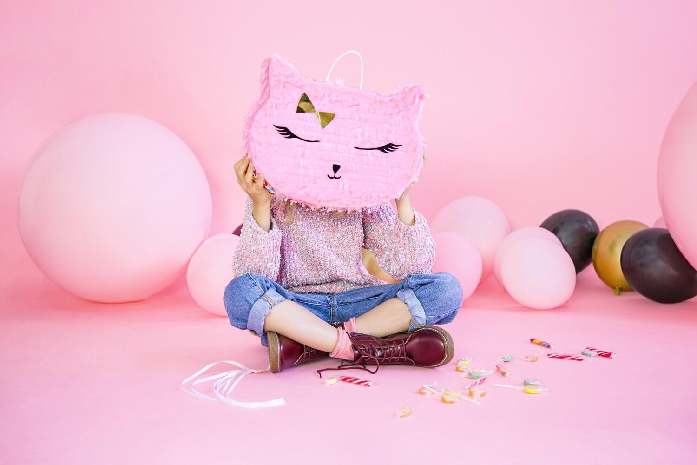 Piñata gatita rosa