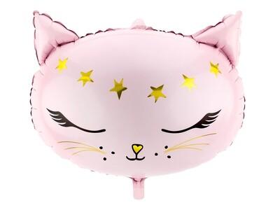 Pink kitten balloon