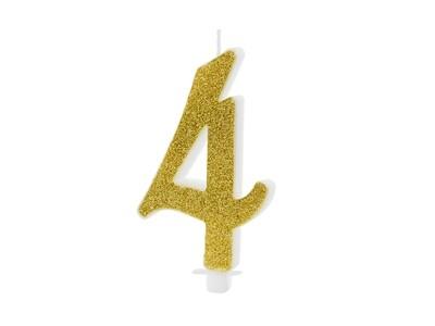 Vela dorada número 4