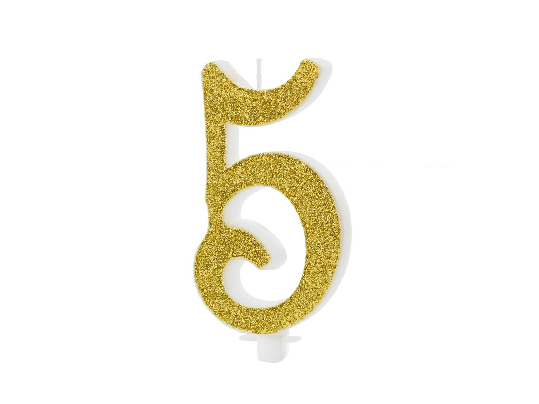 Vela dorada número 5
