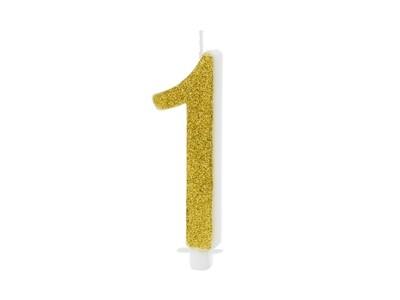 Vela dorada número 1