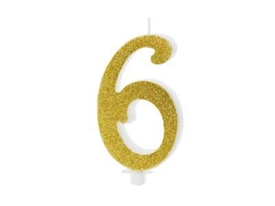 Vela dorada número 6