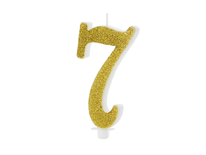 Vela dorada número 7