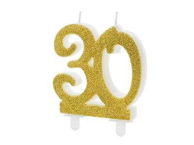 Vela dorada número 30