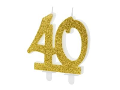 Vela dorada número 40