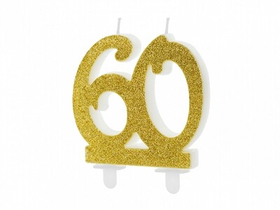 Vela dorada número 60