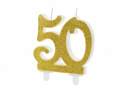 Vela dorada número 50
