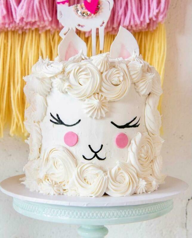 Boho Llama cake