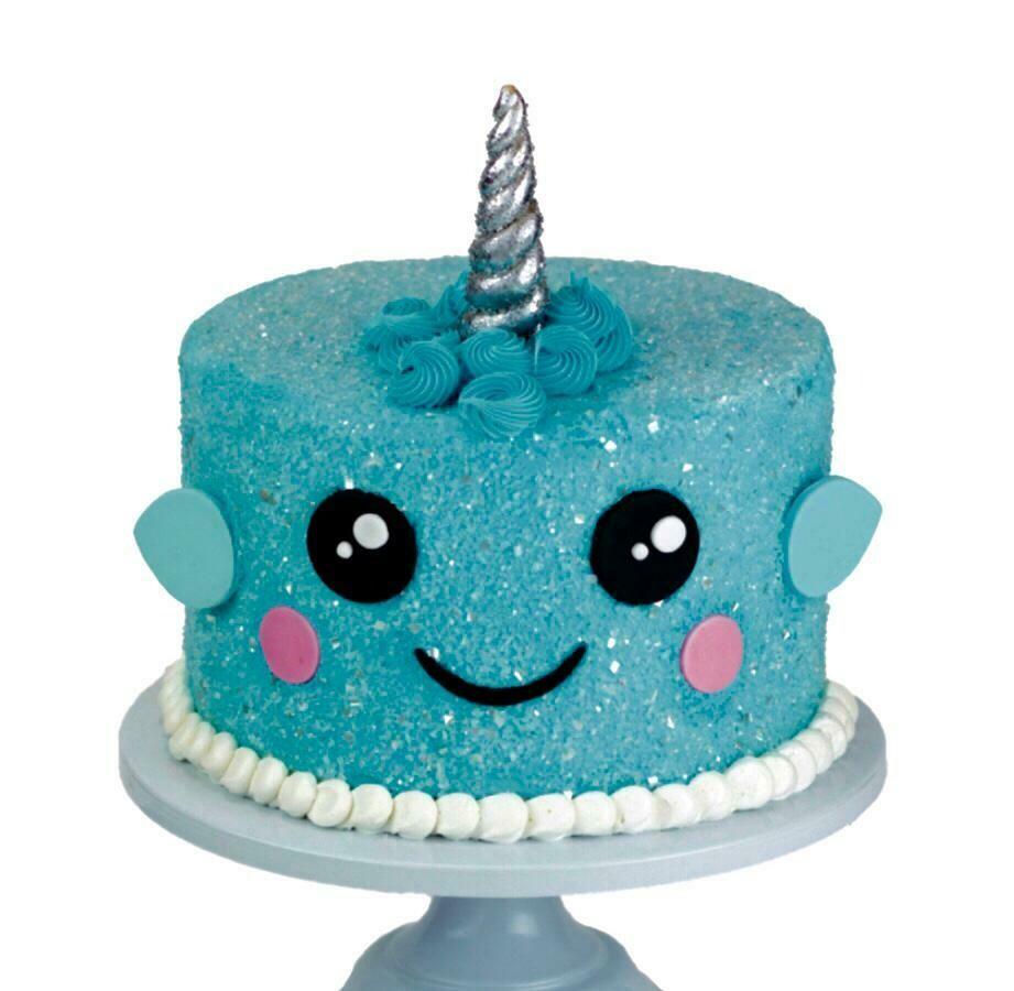 Blue Narwhal cake
