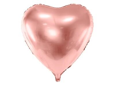 Heart foil balloon, 72x73cm, rose gold