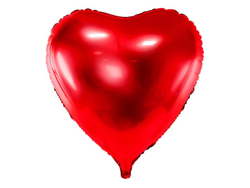Globo de lámina Corazón, 72x73cm, rojo