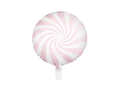 Aluminum foil balloon, 35 cm, light pink