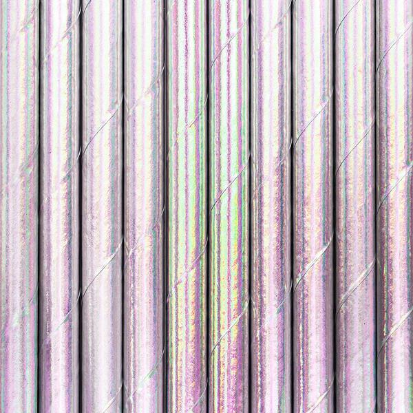 Pajitas de papel, iridiscentes, 19,5 cm