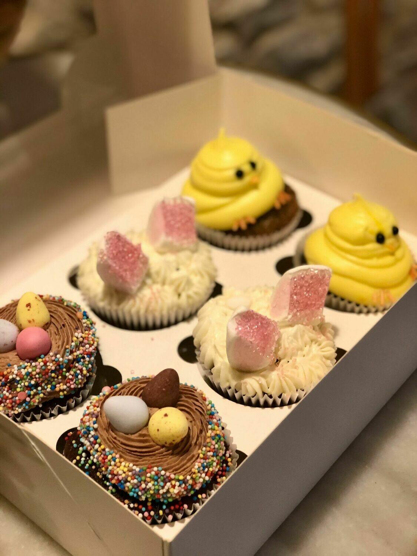 Caixa de cupcakes de pasqua