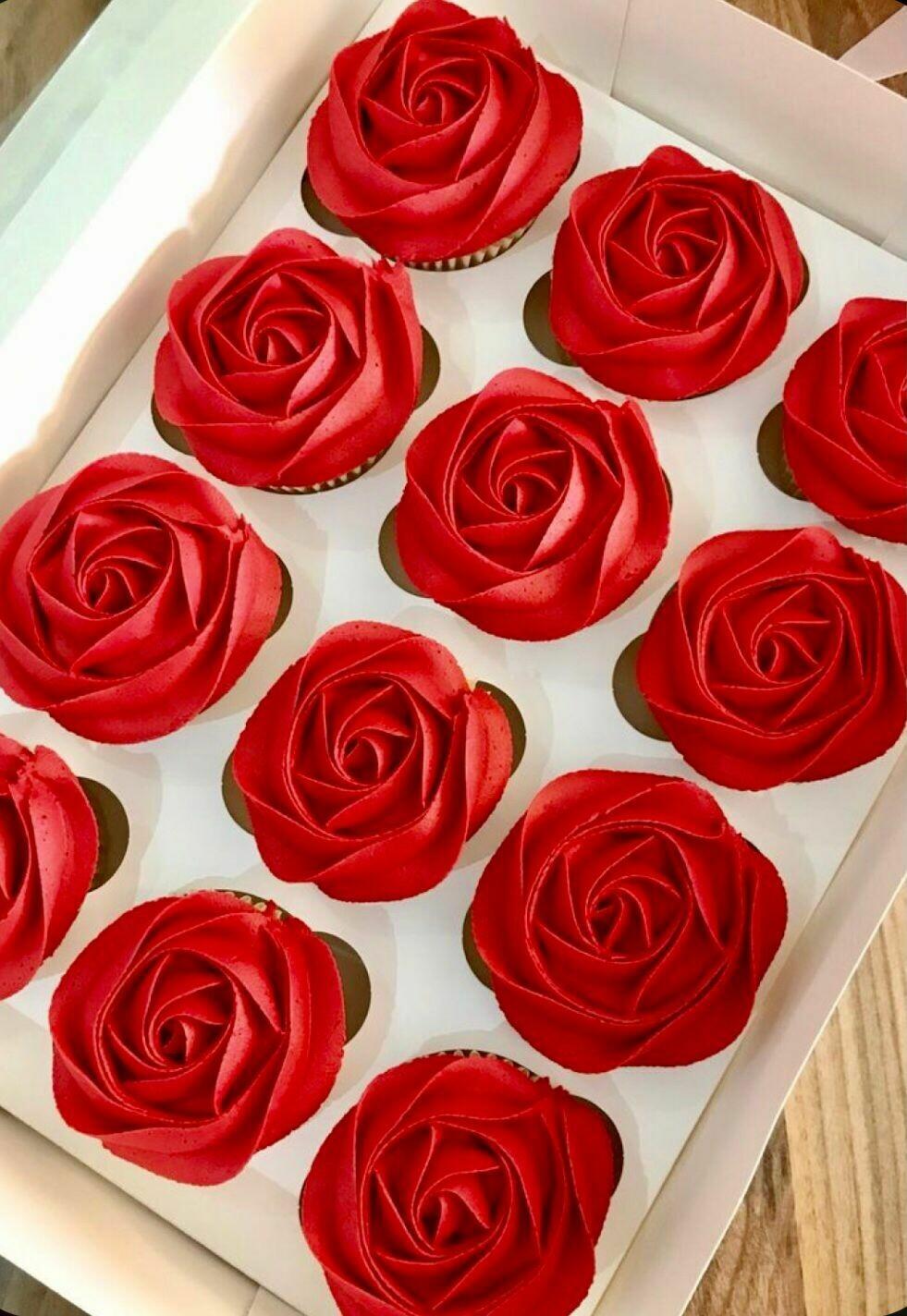 Caixa de cupcakes de Sant Jordi