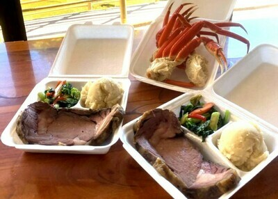 Roast Prime Rib & Seafood for Two